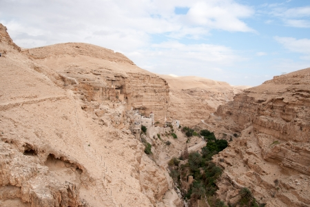 judean: Judean desert in Israel christian holy place monastery Stock Photo