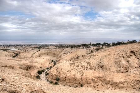 judean: Landscape of jericho and judean desert Stock Photo