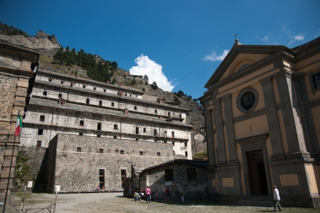 fortification: Old fortification vacation attraction in Piemonte