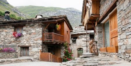 bonne: French alps bonneval sur arc beautifull old village in mountain Stock Photo