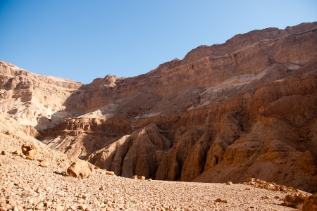 Desert Canyon in Israel Dead Sea travel attraction for tourists photo