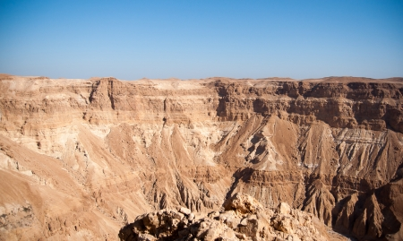 Desert Canyon in Israel Dead Sea photo