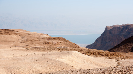 Israel attraction for tourists - stone deserts nead dead sea photo