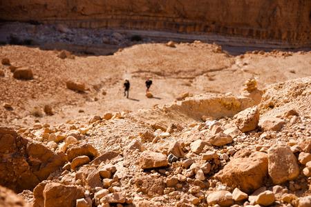 judean: Hiking and climbing in judean desert near dead sea, israel