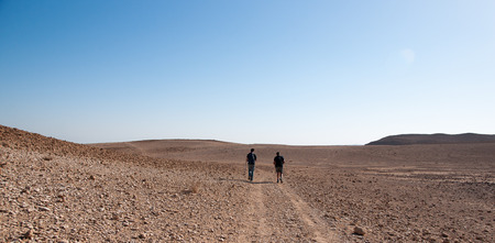 Sport and health for hiking in judean desert in Israel photo