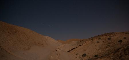 negev: Adventure in dart Negev desert in Israel night Stock Photo