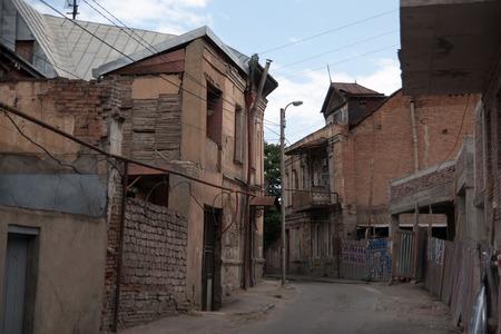 tbilisi: Viaggi in Old Tbilisi trimestre attivit� turistica Georgia Archivio Fotografico