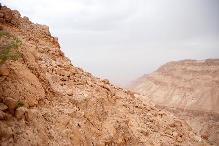 judean: Vacation in Judean desert landscape of Israel Stock Photo