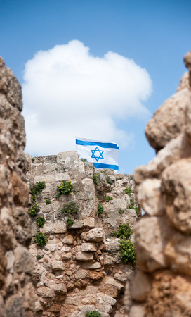 historic sites: Ruins in Israel vacation travel of historic sites Stock Photo