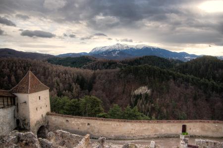 winter vacation: Transilvania winter vacation in romania mountains Stock Photo