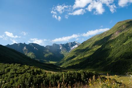 kavkaz: Travel in Georgia mountain Svaneti region - hiking adventure