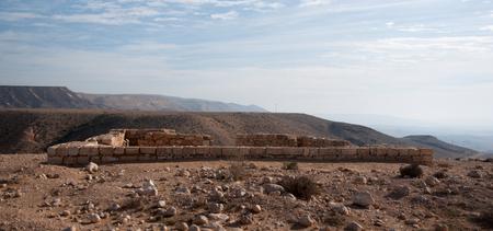 negev: Travel in stone desert - ancient ruins of Israeli Negev