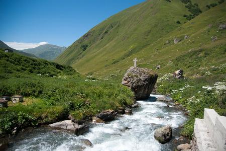 kavkaz: Travel in mountain beautiful nature of Kavkaz mountain