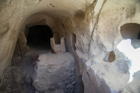 Archeology attraction ancient caves settlement in Israel