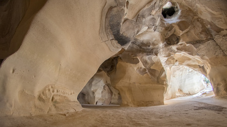 middle east: Handmade and natural stone caves in Middle East