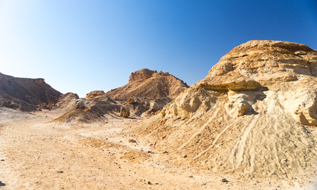 mideast: Hiking in mideast stone desert tourism