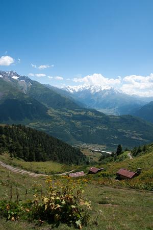 Nature and travel in Georgia svaneti region mountain