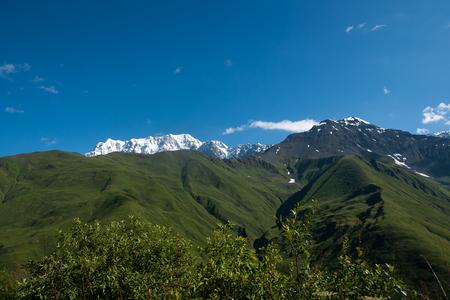 Travel in Georgia mountain Svaneti region - hiking adventure