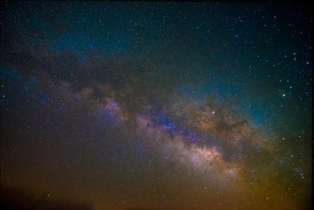 Milky way astrophotography long exposure Stock Photo