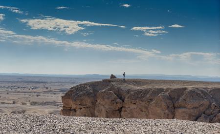 mideast: Travel in israeli arava desert under blue sky
