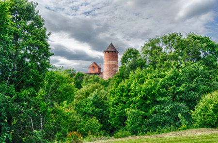 Europe castle tourism in summer latvian vacation