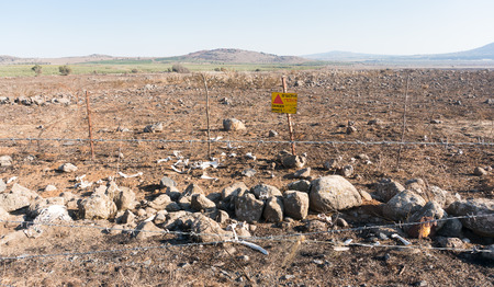 War on middle east bones and mines on Golan