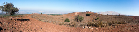 Trekking in israeli north near syrian border