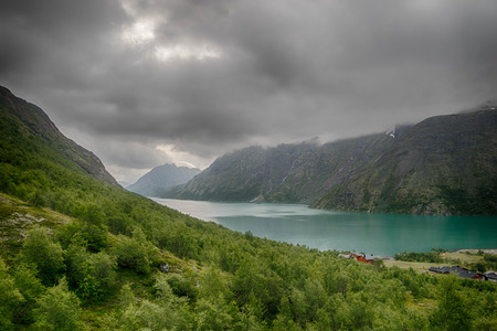 Europe summer travel in mountains and lakes of Scandinavia 写真素材