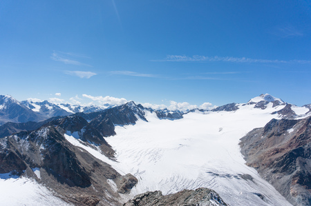 Alpine trekking in Austria extreme vacation view