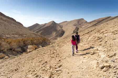 Hiking for health in Israel middle east adventure Stock Photo