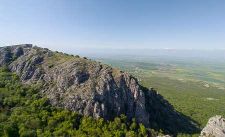 Nature travel in Georgia trekking hiking tourism at spring