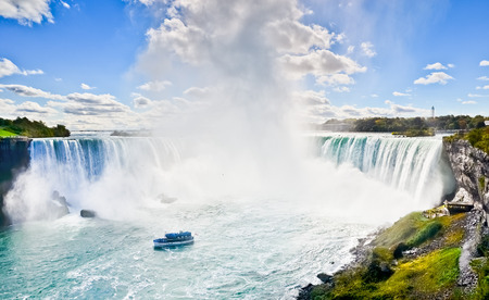호스 슈 가을, 나이아가라 폭포, 온타리오, 캐나다 스톡 콘텐츠