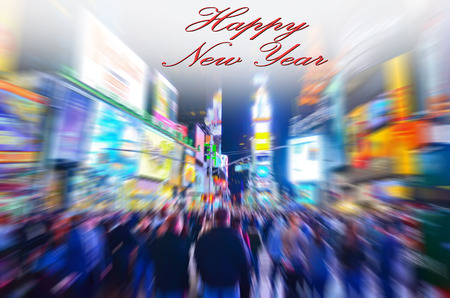 times square: Celebration of New Year in Times Square, New York. Stock Photo
