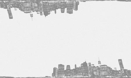 new york skyline: Sketching background of New York skyline.