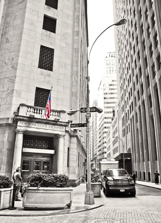 new york stock exchange: . NEW YORK CITY, NY - OCT 11: The side entrance of New York Stock Exchange on the Wall Street on October 11, 2013 in New York City The Exchange building was built in 1903.