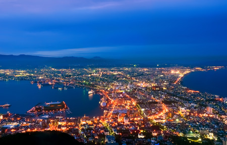 Panoramic view of Hakodate Japan. Stockfoto