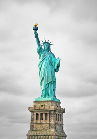 liberty torch: The Statue of Liberty in New York City