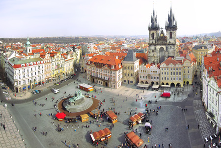 town square: Town Square in Prague, Czech Republic