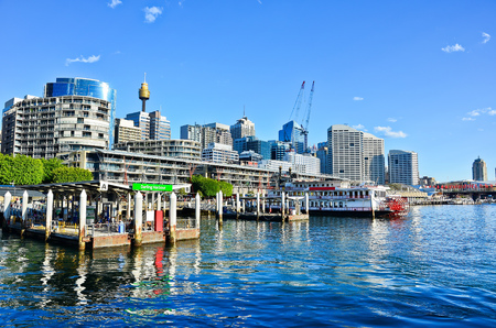 darling: View of Darling Harbour in Sydney, Australia Editorial