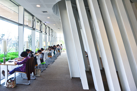 lecture hall: People studying in the city library in Kaohsiung, Taiwan