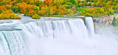 niagara falls: American side of Niagara Falls in autumn