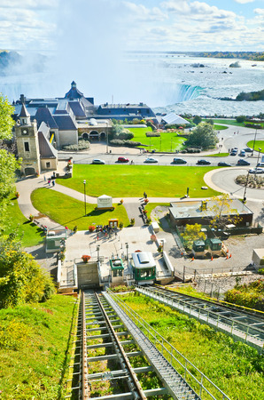 to incline: Niagara Falls from the Falls Incline Railway in Canada