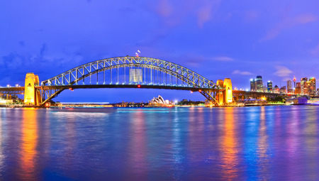 View of Sydney Harbor at night