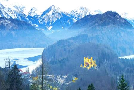 neuschwanstein: Hohenschwangau Castle in Germany