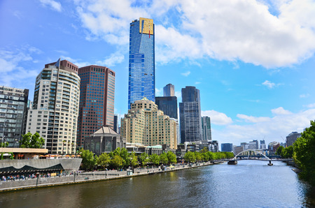 View of Melbourne skyline in summer Banco de Imagens - 47015526
