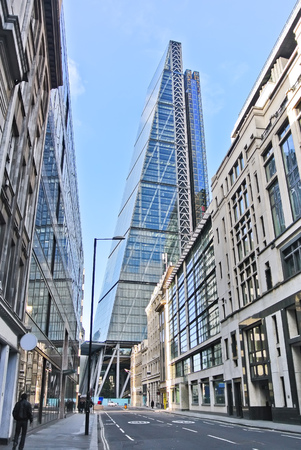 financial district: View of financial district in London