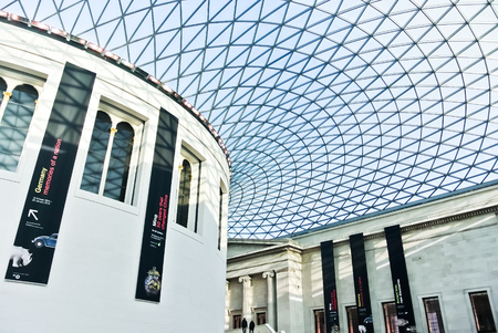 great hall: Great Hall of the British Museum in London
