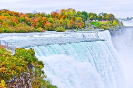 American side of Niagara Falls in autumn