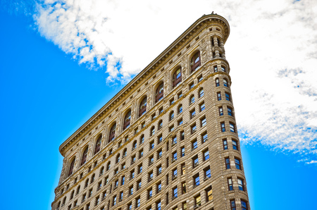 flat iron: Flat Iron building from Broadway in Manhattan, New York City Editorial