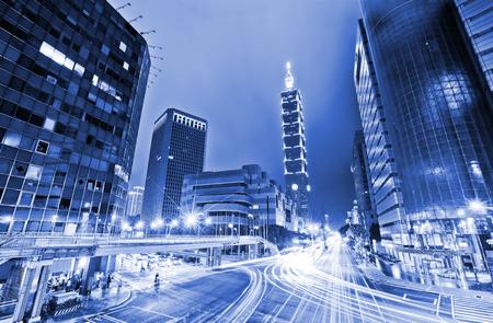 台湾・台北市の夜景。